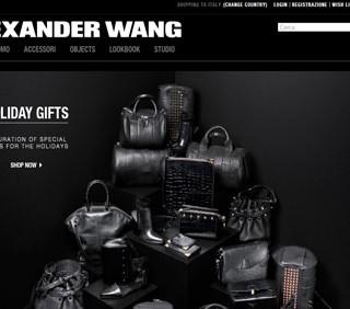 Alexander Wang apre le porte al web