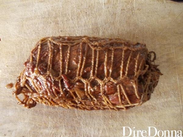 Rotolo di carne cotto