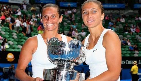 Tennis: Sara Errani e Roberta Vinci trionfano agli Australian Open