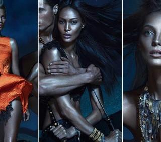 Versace: svelate le immagini promo con Kate Moss