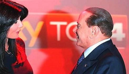 SKY TG24: Ilaria D'Amico batte Silvio Berlusconi