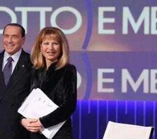 Silvio Berlusconi contro Lilli Gruber a 8 e Mezzo