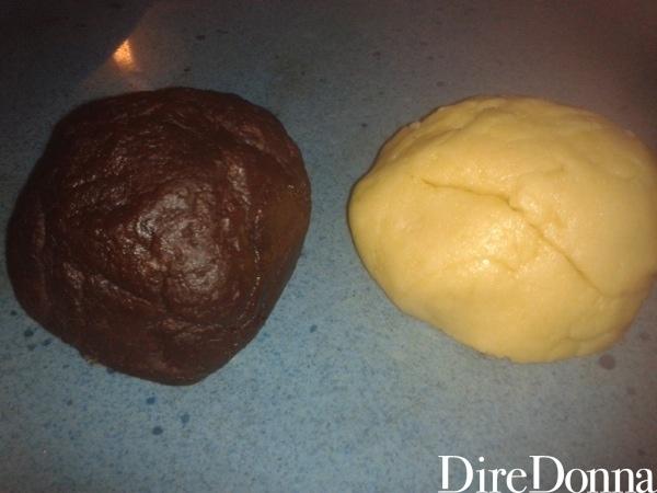 Panetto bianco e al cacao