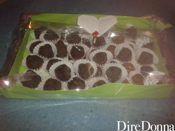 Cioccolatini a cuore pronti