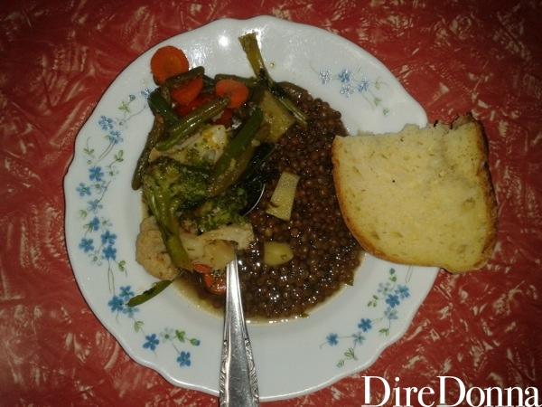 Lenticchie sul piatto
