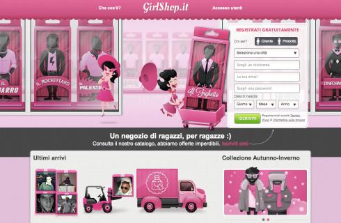 GirlShop: maschi nel carrello e carte fedeltà