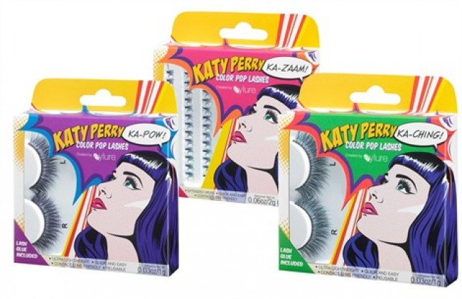 Le ciglia finte di Katy Perry si colorano di pop: sono in arrivo le Color Pop Lashes