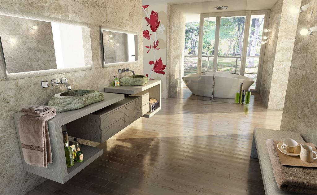 5 idee per scegliere il pavimento del bagno diredonna - Idee bagni moderni ...