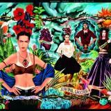 Campagne publicitaire pour la collection Hommage a Frida Kahlo Prêt-à-porter Femme printemps-été 1998 © Jean Paul Gaultier
