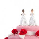 Cake topper con coppia di spose lesbiche