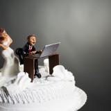 Cake topper con sposa arrabbiata