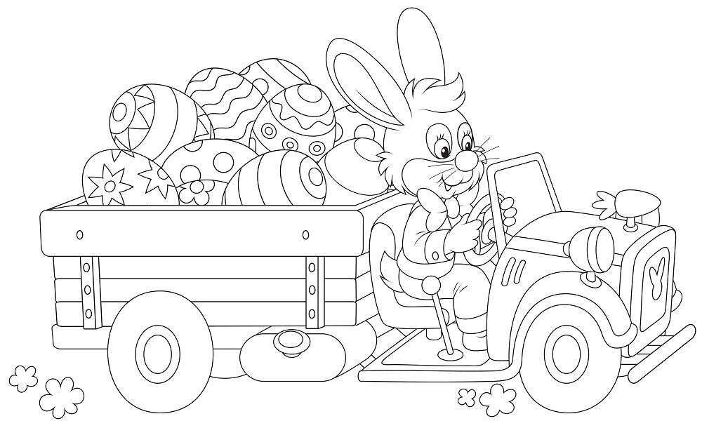 10 disegni di Pasqua da stampare e colorare