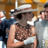 Julia Roberts con l'abito marrone a pois