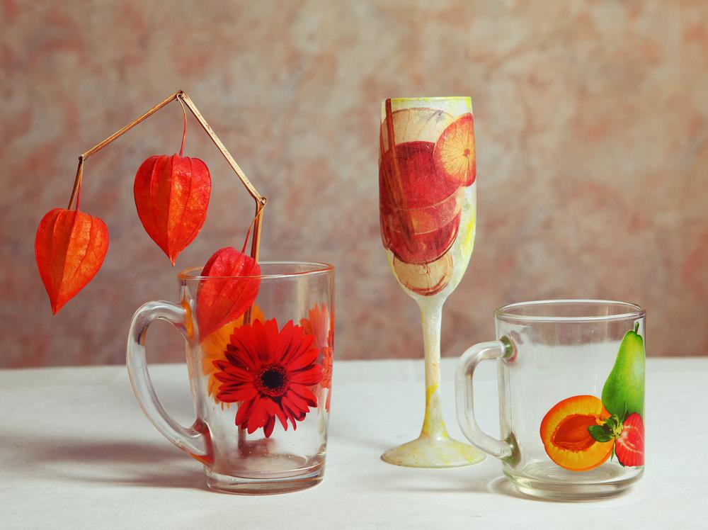 Decoupage su vetro guida diredonna for Decoupage su vaso di vetro