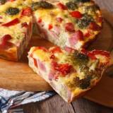 torta peperoni, broccoli e ricotta