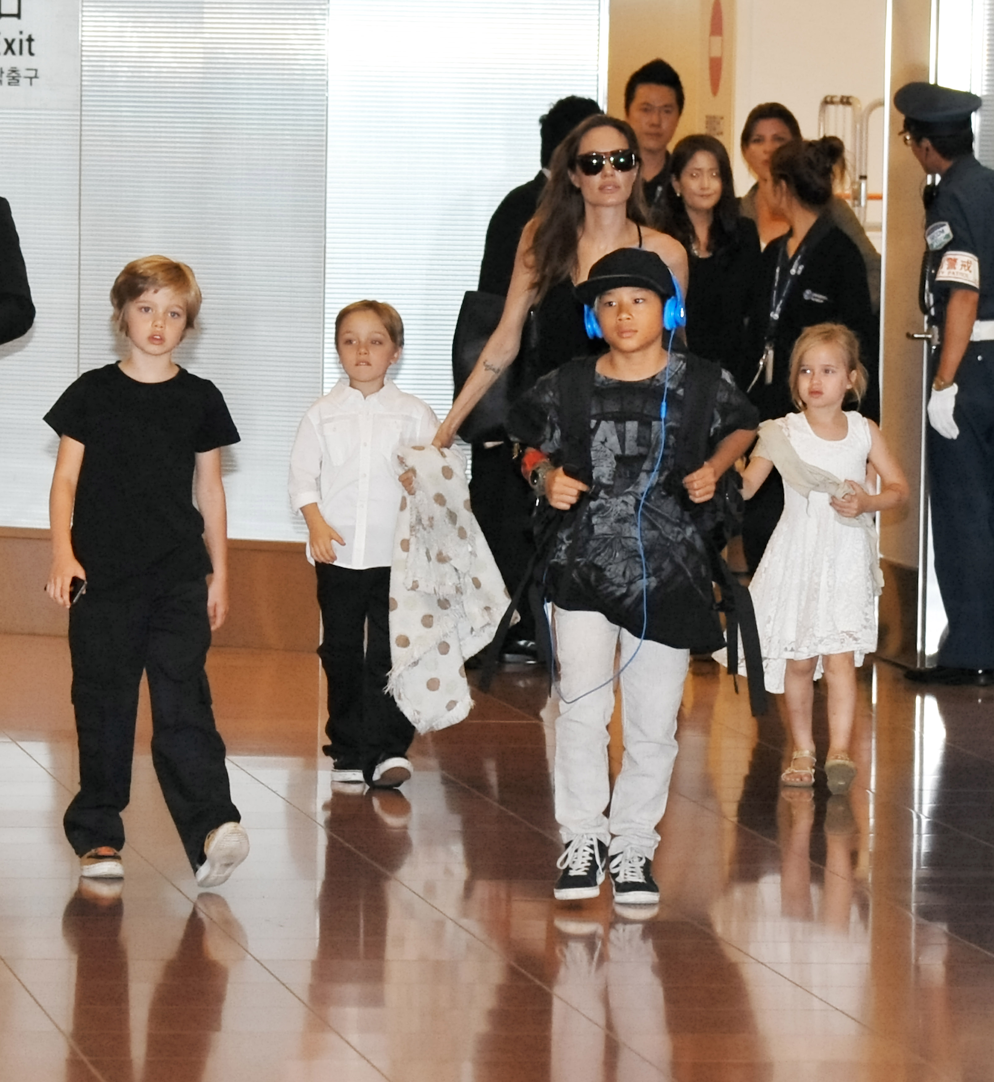 I figli di Angelina Jolie e Brad Pitt, foto