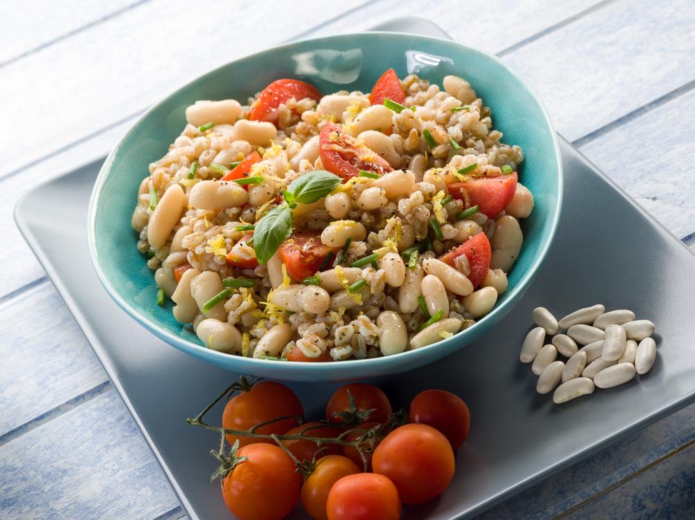 insalata du farro e fagioli