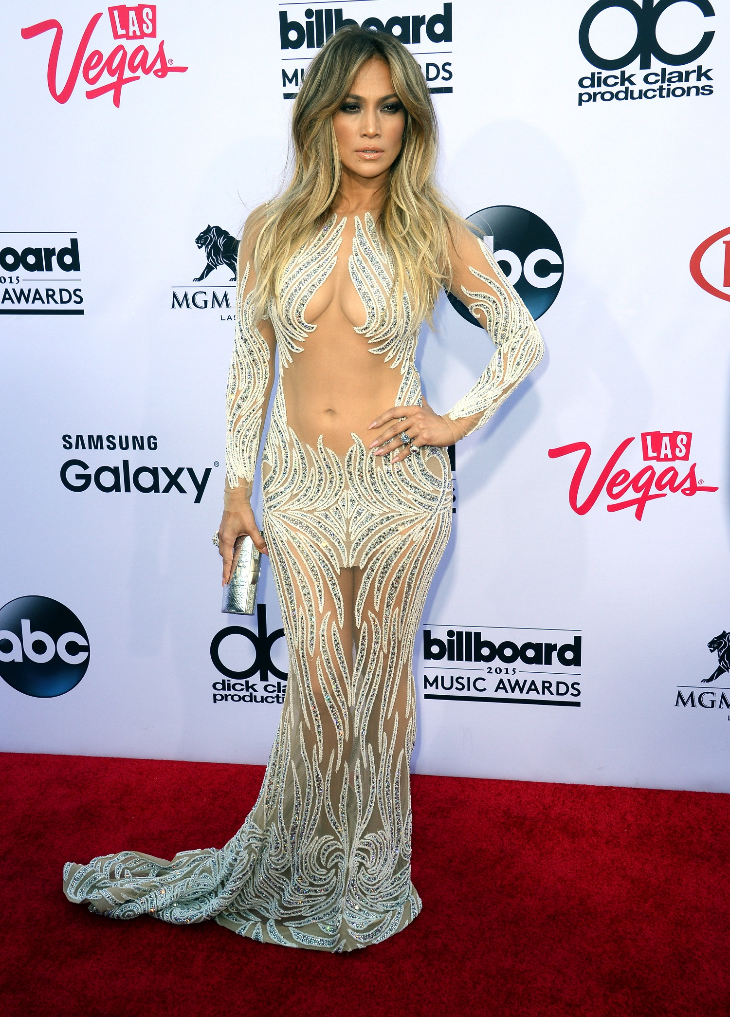 Jennifer Lopez e Mariah Carey: nude look ai Billboard Awards