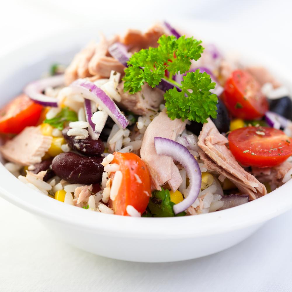 insalata di riso e tonno