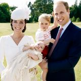 La principessa Charlotte nel giorno del battesimo