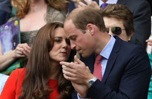 Kate Middleton e William a Wimbledon stupiscono in rosso
