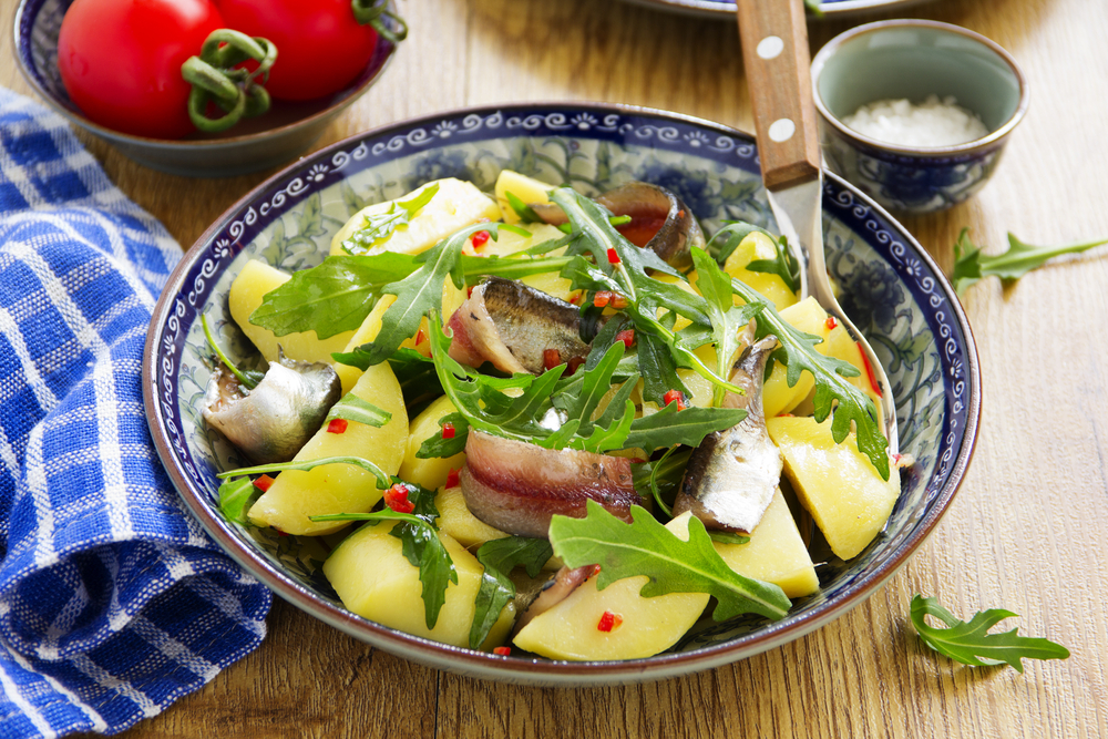 insalata di patate e acciughe