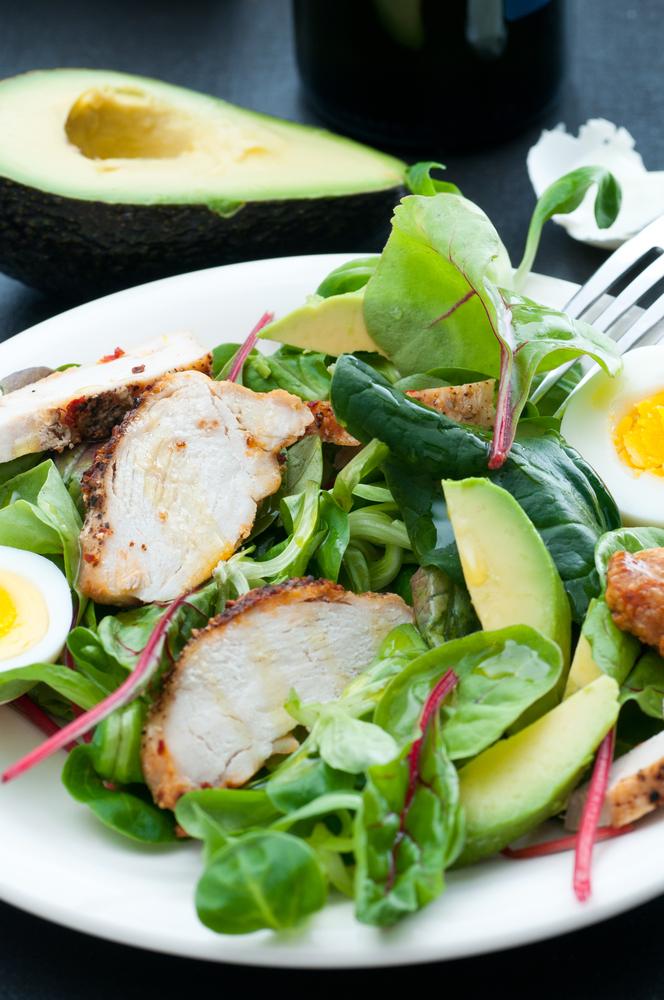 insalata di pollo avocado