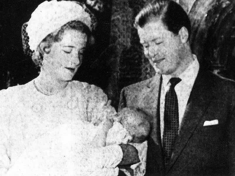La principessa Diana in una foto del battesimo avvenuto nel 1961