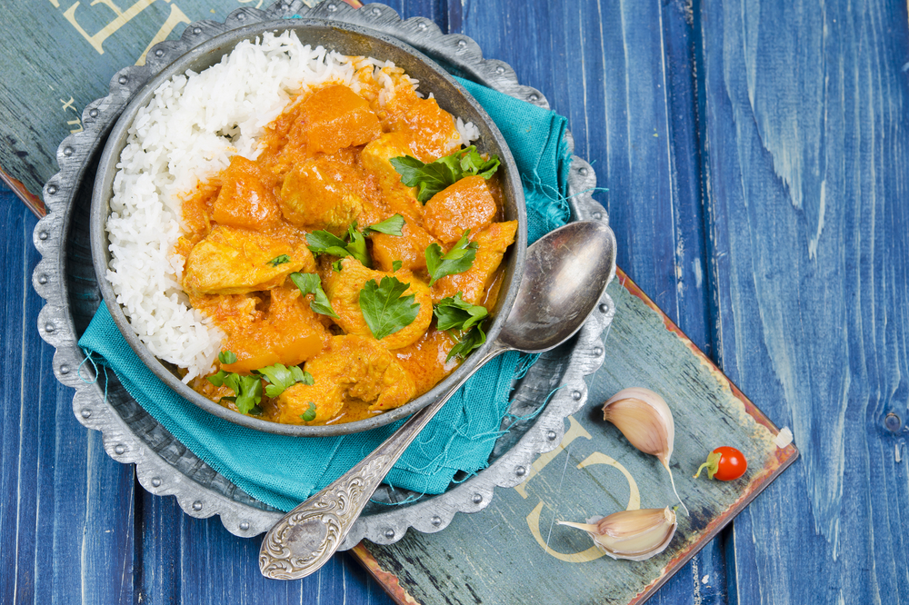 riso al curry con pollo