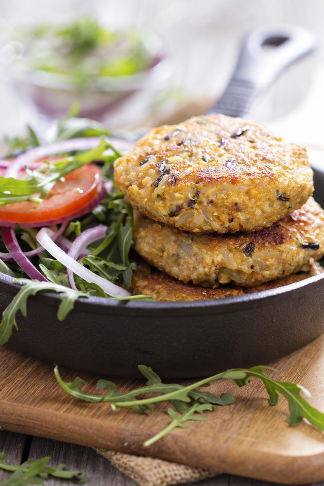 burger vegano di quinoa