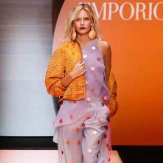 Emporio Armani: la donna grintosa veste di rosa