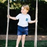 Il principe George fotografato da Matt Porteous in occasione del suo terzo compleanno
