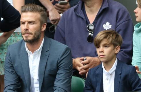 Romeo Beckham mascotte della Nazionale inglese