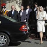 Charlene di Monaco da Papa Benedetto il 12 febbraio 2013