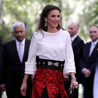 Rania di Giordania e Victoria Bekcham: look a confronto