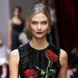 Karlie Kloss sulla passerella di Dolce&Gabbana