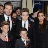 David Beckham con la famiglia nel 2013