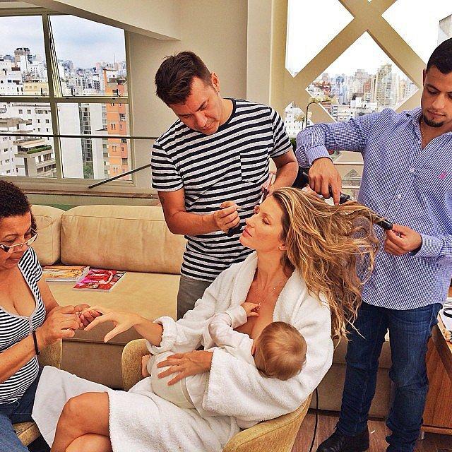 Mamme vip che allattano sui social