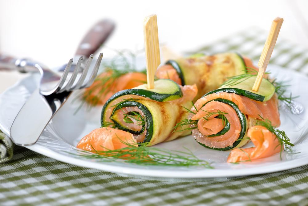 involtini zucchine e salmone