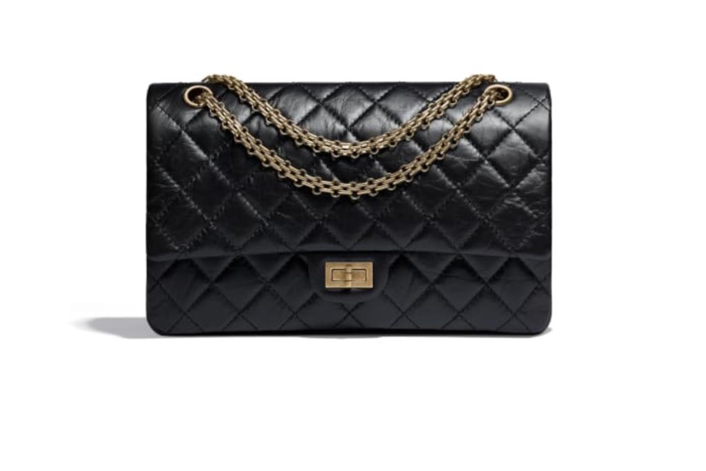 La 2.55 di Chanel grande in pelle d'agnello nera