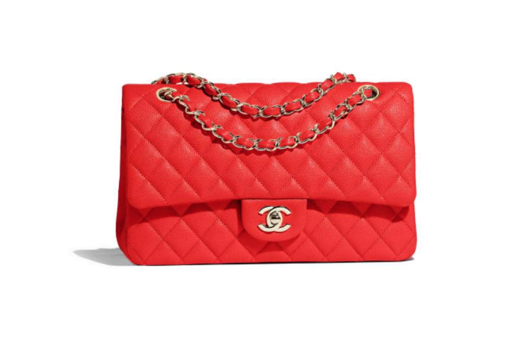 La Classica di Chanel in pelle rossa