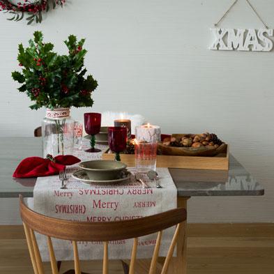 Tavola di Natale shabby chic, le foto