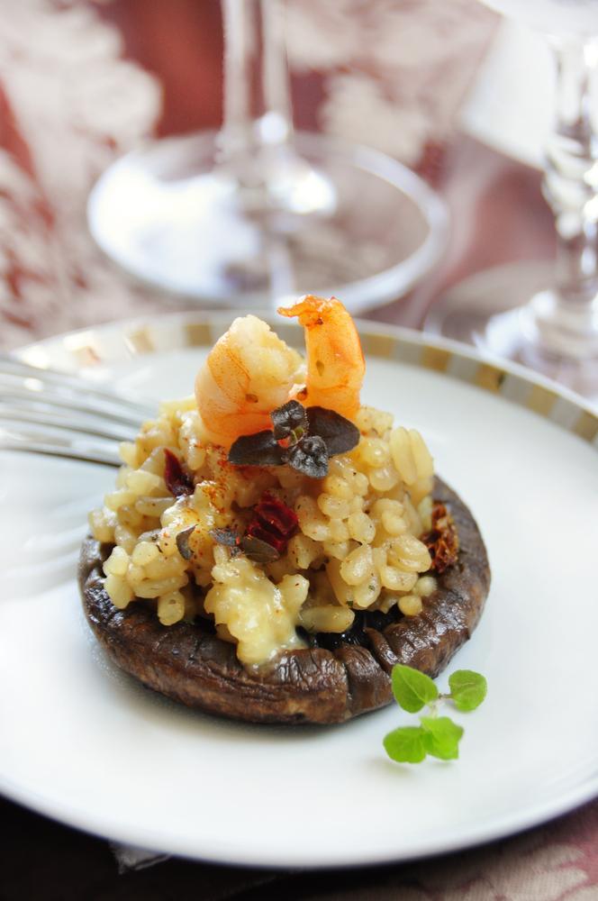 risotto funghi e gamberi