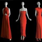 Alcuni degli abiti in Rosso Valentino del Valentino Virtual Museum