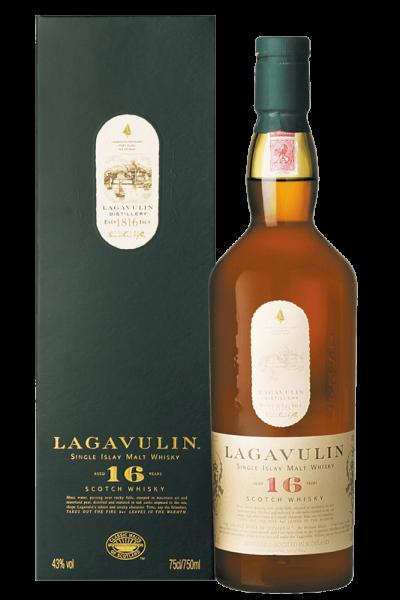 Una bottiglia di Whisky Lagavulin