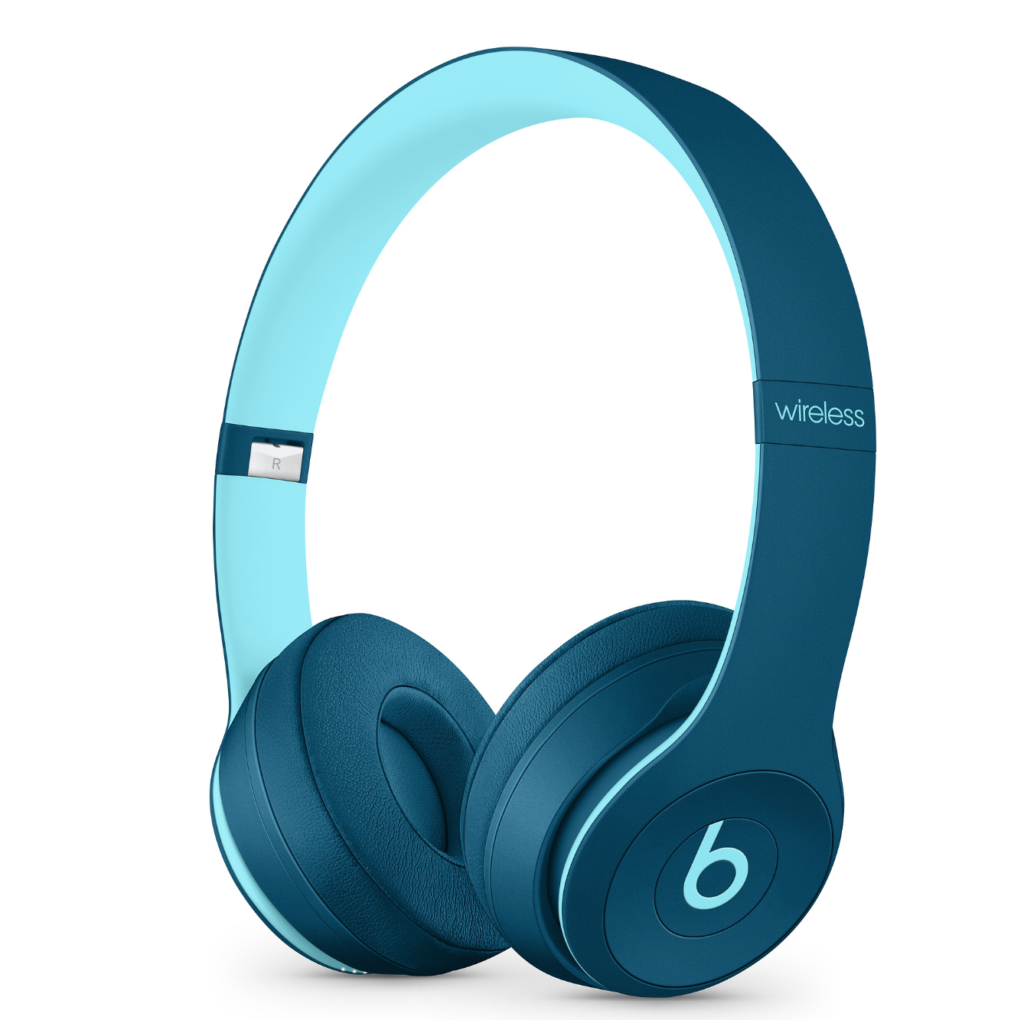Cuffie wireless in azzurro pop