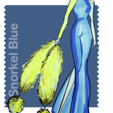 Snorkel Blue: bozzetto di Georgine
