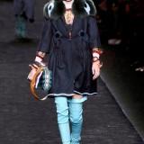 Kendall Jenner per Fendi Milano Moda Donna Autunno Inverno 2016 2017