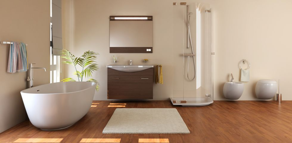 Arredare il bagno con il legno soluzioni pro e contro - Arredare il bagno spendendo poco ...