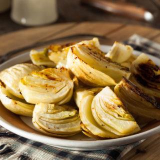 Finocchi al forno, antipasto o contorno vegetariano